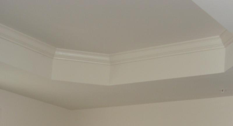 CROWN MOULDING ADDS ARCHITECTURAL INTEREST